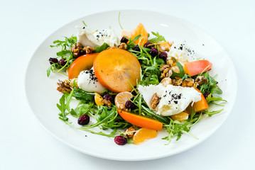 salad with persimmon