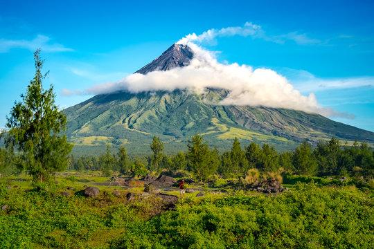 Mayon Volcano in Legazpi, Philippine