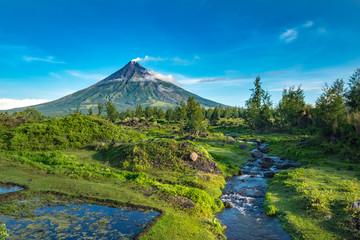 Mayon Volcano in Legazpi, Philippine  Wall mural