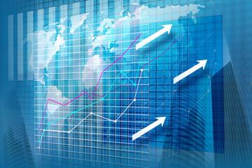 Statystyka finansowa - wizualizacja przestrzenna na ekranie