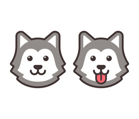 Husky head icons