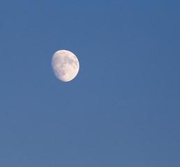 moon on a blue sky