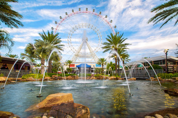 The Orlando Eye is a 400 feet tall ferris wheel in the heart of Orlando and the largest observation wheel on the east coast, United States Wall mural