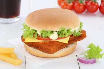 Fischburger Fisch Burger Backfisch Hamburger Menu Menü Menue Ge