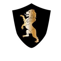 heraldic lion black color