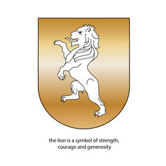 heraldic the lion gold color