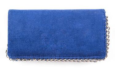 Wallets for women / Purse / Women blue purse (wallet) on the white background