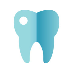 Tooth icon vector.