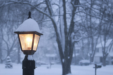 Lamp in snow