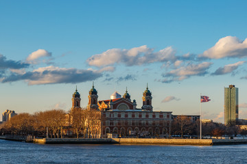Ellis island from side.