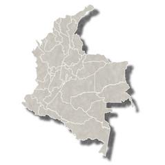 コロンビア 地図 都市 アイコン