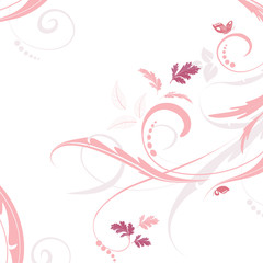 graceful floral background for your design