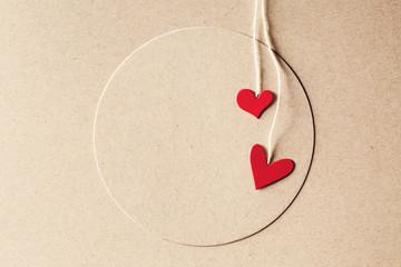 Handmade small paper hearts