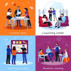 Coworking People 2x2 Design Concept