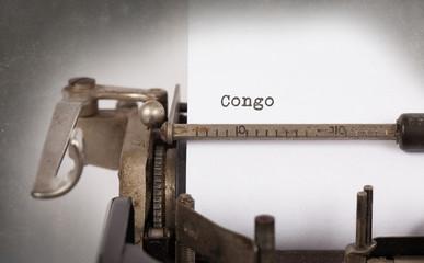 Old typewriter - Congo