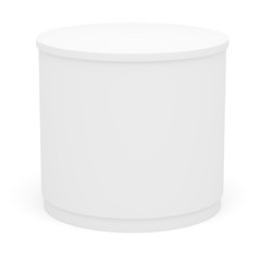 White POS POI cylinder. Isolated