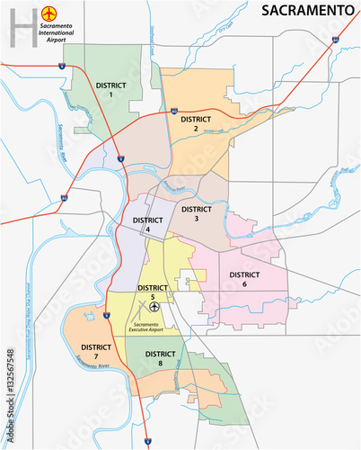 QuotSacramento District Administrative And Political Map