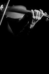 Violin close up hands