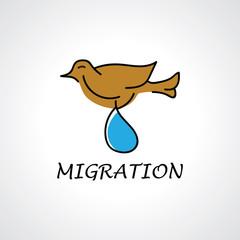 bird vector abstract migration logo
