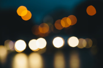 Defocused city lights background