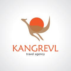 kangaroo vector logo