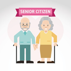 Set of old people. Senior man and woman activities. Senior citizen. Inspire to drive your business project. Vector illustration.