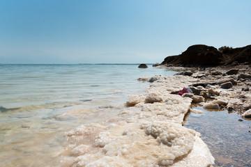 Salty Dead sea, Ein Bokek, Israel.