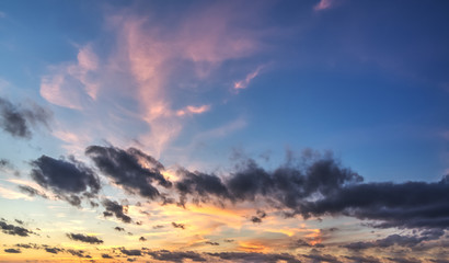 blue and pink sky