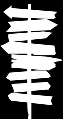 Signposts Inverted Silhouette