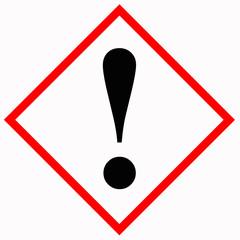 Warnschild GHS07 Gefahr - Ätzend - Reizwirkung