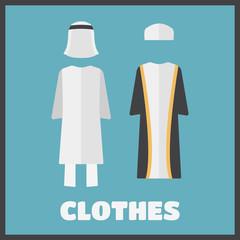 Arabic man wearing traditional clothing.
