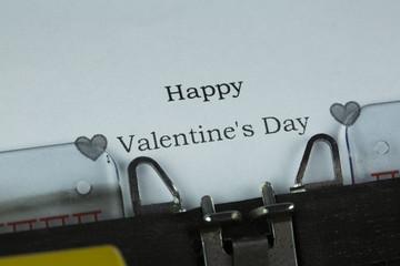 Typewriter Happy Valentines Day