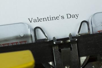 Typewriter Valentines Day