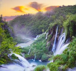 waterfalls of Plitvice lakes national park