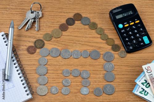 Projet de financement d 39 une maison stock photo and for Financement agrandissement maison