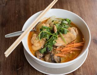 Chicken Laksa, one of the best Asian cuisine in Australian taste.