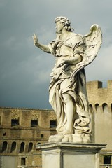 Statue and Castle of St. Angelo
