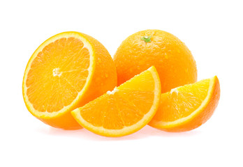 Orange fruit with drops of water