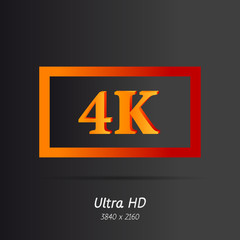 Ultra HD letters icon