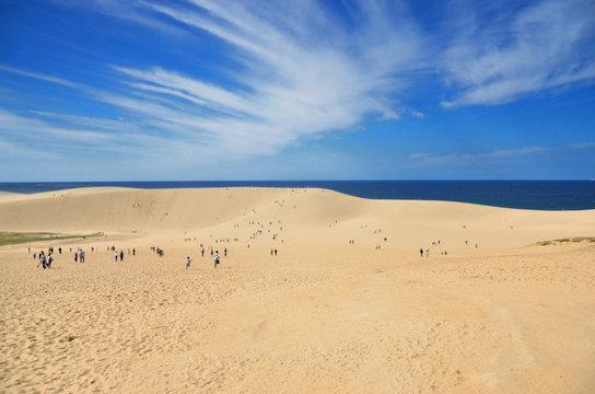 鳥取 青空と鳥取砂丘