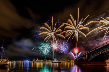 Feuerwerk über Mainz 2016