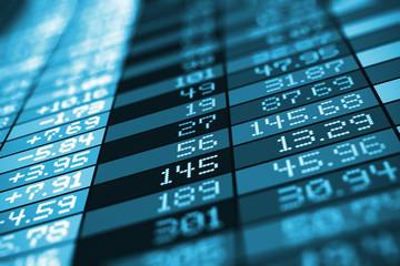 Stock exchange market trade data
