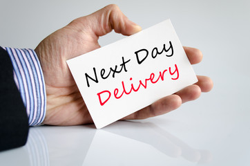 Next day delivery text concept