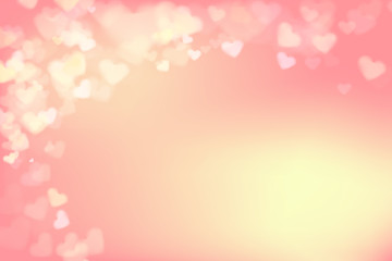 003 Blur heart on light pink abstract background vector illustra