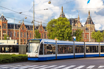 City tram in Amsterdam