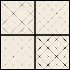 Set of Vector seamless diamond pattern