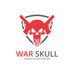 Skull logo. Perfect game logo