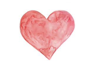 Watercolor heart art symbolise love