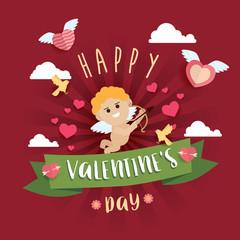 Happy Valentine Day design background Vector Illustration