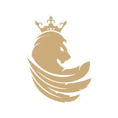 Lion logo. Royal lion logo